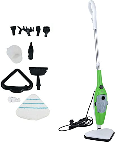popular Steam Mop 10-in-1 Cleaner for Hardwood, Tile, new arrival Laminate Floors, Glass, Fabric, Metal, or Carpet, 3.5m Long high quality Power Cord Adjustable Steam Modes Convenient Detachable Handheld Unit with 10 Accessories outlet sale