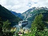 Puzzles Adulto Puzzle 1000 Piezas Crucero por El Fiordo Noruego, Junio Es Un Regalo para Amantes O Amigos.