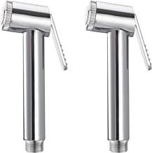 Unique Creation Sleek Health Faucet Head Chrome Plated (Silver, Standard Size) - Set of 2