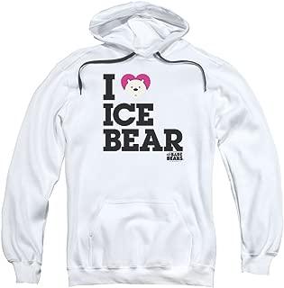 Trevco We Bare Bears Heart Ice Bear Unisex Adult Pull-Over Hoodie For Men and Women