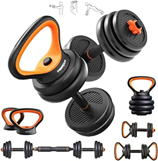 6 IN 1 Weight Set for Weightlifting and Body Building for Exercise Fitting Gym Body Workout Dumbbell Set with Adjustable W...