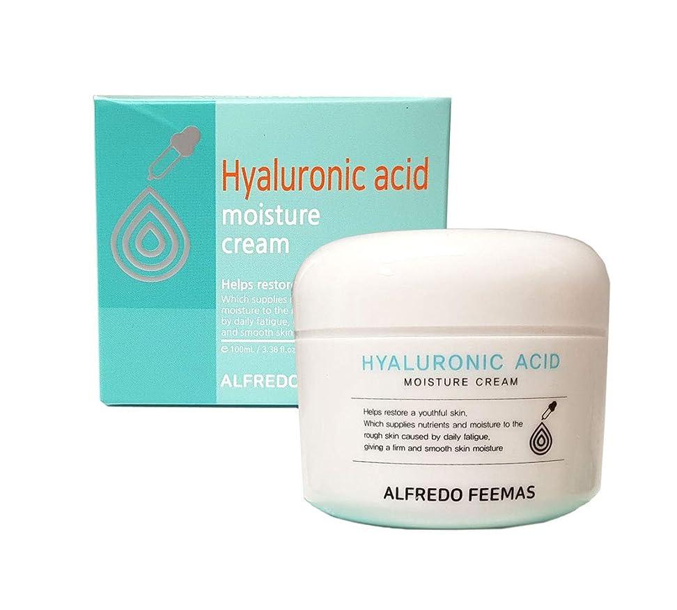債権者ジャーナル着陸[ALFREDO FEEMAS] ヒアルロン酸モイスチャークリーム100ml / Hyaluronic acid Moisture Cream 100ml / なめらか、うるおい/smooth,moisture/韓国化粧品/Korean Cosmetics [並行輸入品]