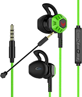 Gaming Headset Headphones with Adjustable Mic Wired in-Ear Headphones E-Sport Earphones for Nintendo Switch, Xbox One, PS4, PC, Laptop, Cellphone with 3.5mm Jack(Z100X Green)