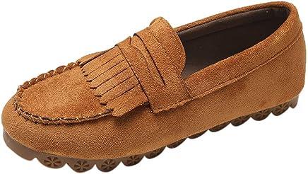 ce4e9e6204a3e Sunhusing Ladies Solid Color Round Head Flat Tassel Decorative Casual Shoes  A Pedal Lazy Shoes Peas Shoes