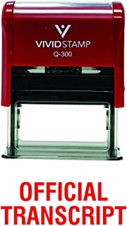 Official Transcript Self Inking Rubber Stamp (Red Ink) - Large