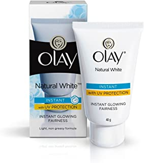 olay natural white light instant glowing fairness.This Daily Instant Glowing Fairness Serum with Triple Vitamin System & Non-greasy Formula Works Immediately to Brighten Your Face to Give You Fair-looking Skin That Glows.40 Gm
