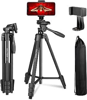 MACTREM Treppiedi Cellulare, Treppiede Fotocamera Smartphone,136cm Alluminio Leggero Cavalletto per Cellulare iPhone, Sams...