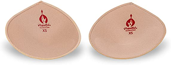 Handful Lights Out Thick Bra Pad Inserts for Sports Bras, Mastectomy Bras, and Swimsuit Tops