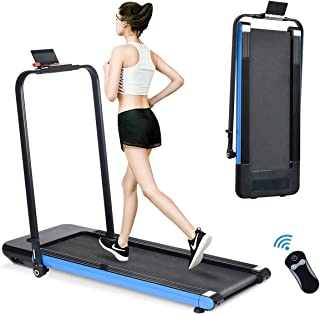 BiFanuo 2 in 1 Folding Treadmill, Smart Walking Running Machine with Bluetooth Audio Speakers, Installation-Free,Under Desk Treadmill for Home/Office Gym Cardio Fitness