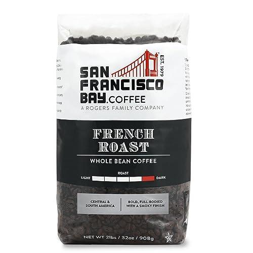 SF Bay Coffee French Roast Whole Bean 2LB (32 Ounce) Dark Roast