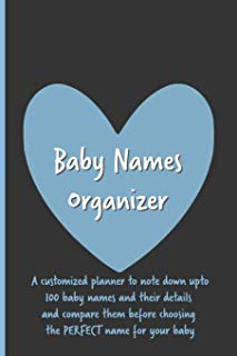 Baby Name Organizer: Organize All Your Favorite Baby Names in One Place / Expecting Women / Baby Shower / Pregnancy Gift /...