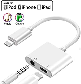 Headphone Adapter for iPhone 11Pro Charger Jack AUX Audio 3.5 mm Jack Adapter for iPhone Adapter Compatible with iPhone 7/8/8Puls/11/10/X/XR/XS Dongle Accessory Connector Compatible iOS All Systems