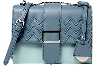 Heshe Womens Leather Small Shoulder Handbags with Link-chain Strap Fashion Woman Bag Ladies Purse Cube Bags Summer Style