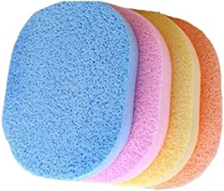 CETC Face Cleansing Sponge Puff Makeup Washing Pad Deep Cleansing & Exfoliating Facial Sponge - Assorted Color Pack of 4