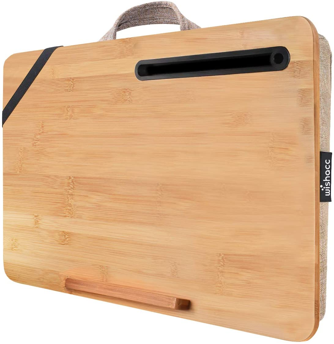 Oversized Lap Desk wishacc Manufacturer OFFicial shop Portable for Bamboo Max 44% OFF Hom Tray