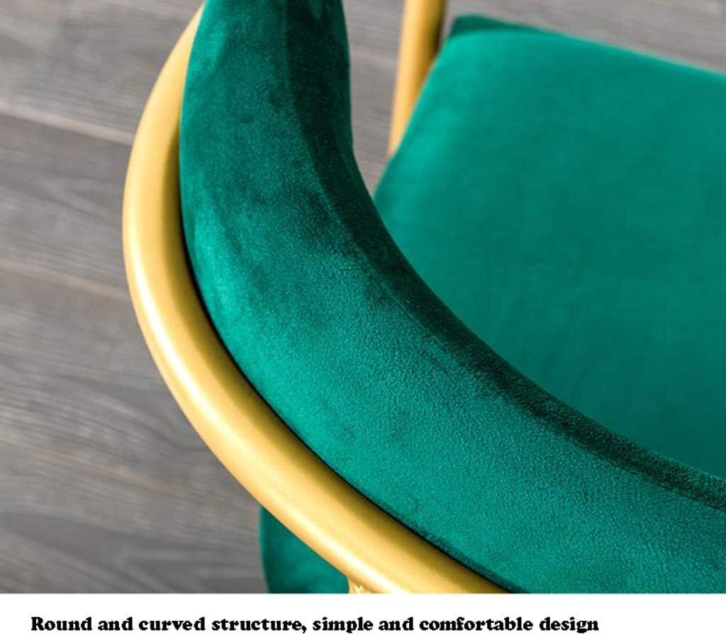 Simple Chaise Bureau étudiant et Chaise de Maquillage Tabouret Retour à la Maison à Manger Chaise d'ordinateur Unique (Color : Dark Green) Light Green