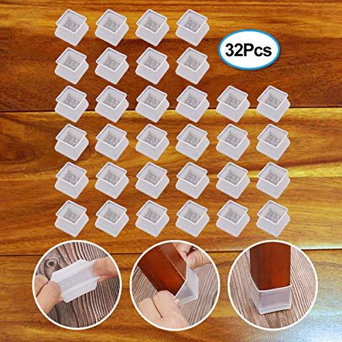 24PC Furniture Pads Elastic Floor Protectors Non Slip Chair Leg Feet Sock Cover