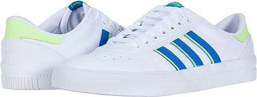 Footwear White/Glory Blue/Signal Green