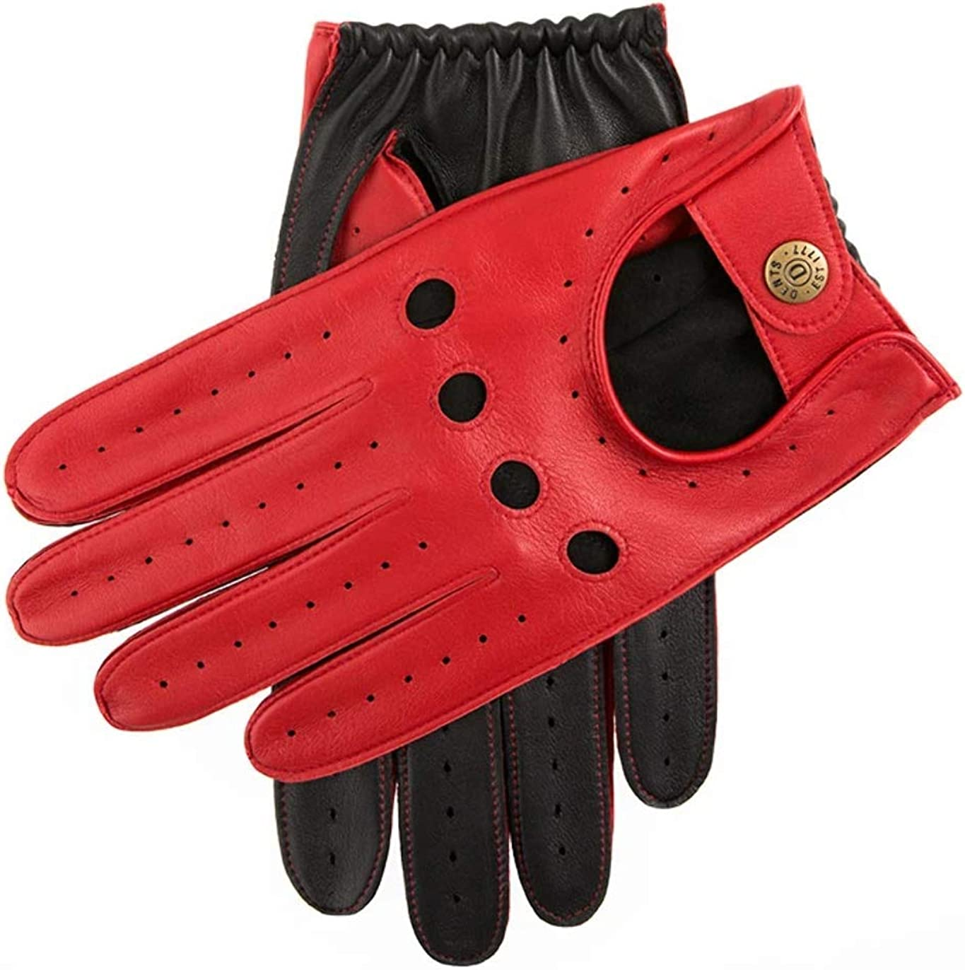 Dents Mens Leather Excellent Driving 5-1021 Red discount Gloves
