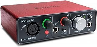 Focusrite Scarlett-solo シンプルレコーディングセット(audio-technica AVヘッドホン付き)