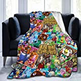 Kaihngl Animal Cute Characters Crossing Blanket Ultra-Soft Micro Fleece Blanket Home Decor Warm Anti-Pilling Flannel Throw Blanket for Couch Bed Sofa 50'x40'