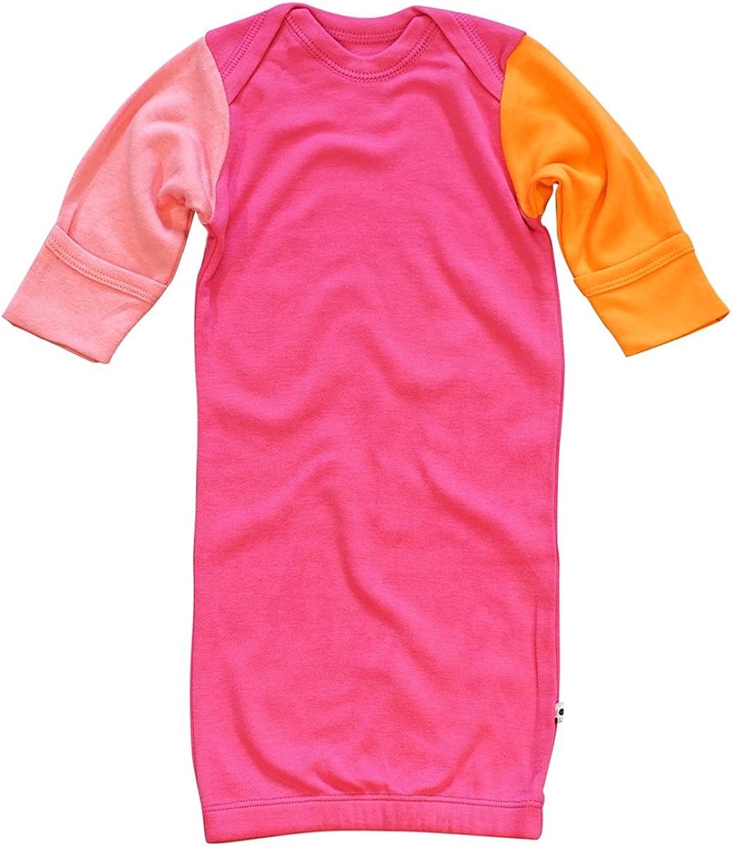 Babysoy Long Sleeve Mix Color Organic Gown/Bundler