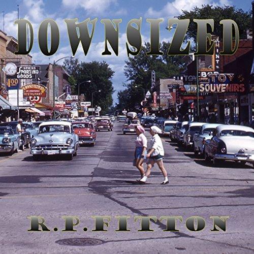 Downsized audiobook cover art