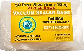 50 Zipper Vacuum Sealer Bags: Pint Size (6