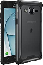 Samsung Galaxy On5 Case, POETIC Affinity Series Premium Thin/No Bulk/Clear/Dual Material Protective Bumper Case for Samsung Galaxy On5 (2016) Black/Clear