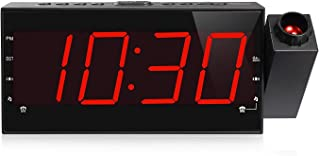 Projection AM FM Radio Alarm Clock with Adjustable Projector