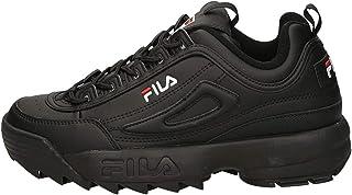 FILA DISRUPTOR LOW Men's Athletic & Outdoor Shoes, Black (Black/Black), 8 UK (42 EU)