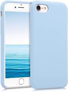kwmobile Hülle kompatibel mit Apple iPhone 7/8 / SE (2020)   Handyhülle gummiert   Handy Case in Pastellblau