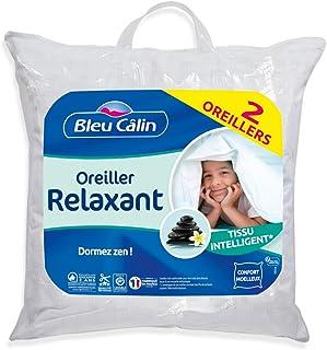 Bleu Câlin Couvre-lits, Microfibre/Polyester, Blanc, 60 x 60 cm