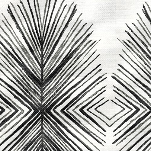 Lowest Prices! 15 Queen Gathered Bedskirt Tulum Ink Geometric Black & Gray Cotton Linen