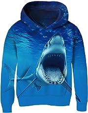 AIDEAONE Boys Girls Hoodie Funny Print 3D Hoodies Pullover Sweatshirt 3-14 Years