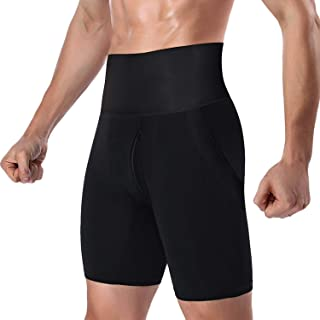 e3ac64060ffb8 DoLoveY Men s Tummy Shaper High Waist Leg Control Shapewear Waist Slimming  Shorts Brief