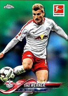 2018-19 Topps Chrome Bundesliga Green Refractor #25 Timo Werner /99 RB Leipzig Soccer Trading Card