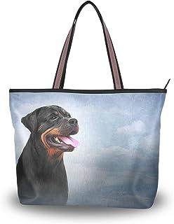 My Daily Damen-Schultertasche mit Rottweiler-Motiv, Handtasche