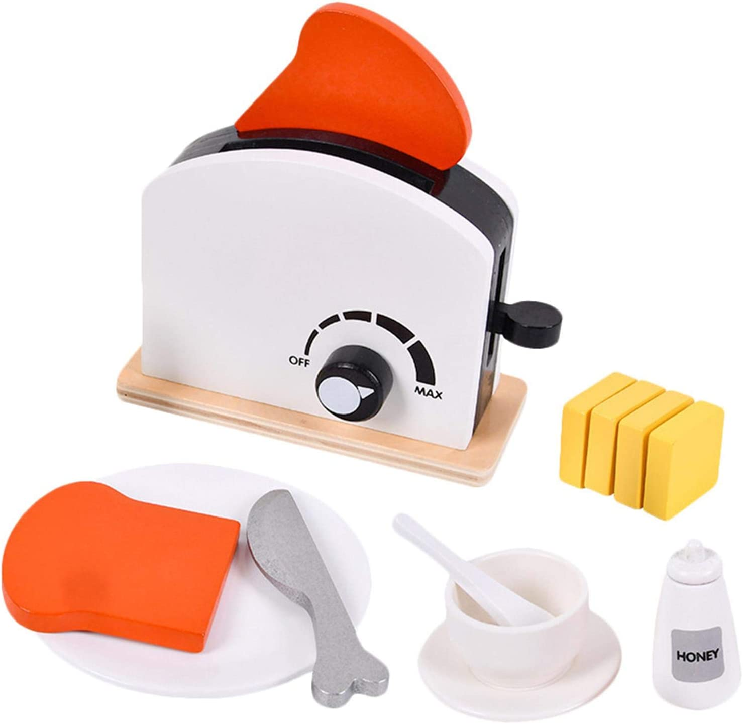 Toy Kitchen Wooden Max 58% OFF Pop-Up Toaster Up Pop Set Play We OFFer at cheap prices Woode