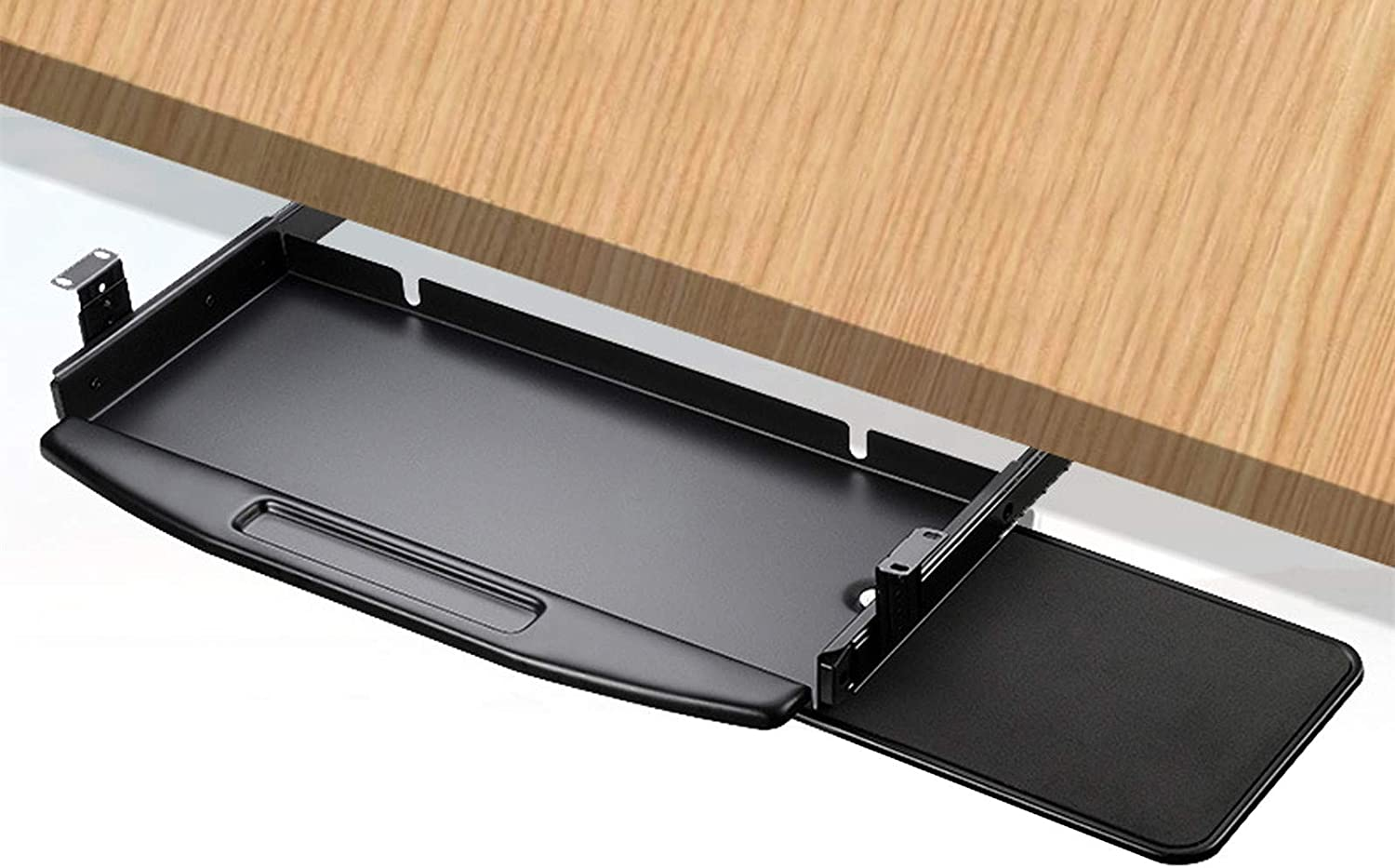 Keyboard Tray Under Desk Sliding Pad Large Max 80% Columbus Mall OFF R with Mouse