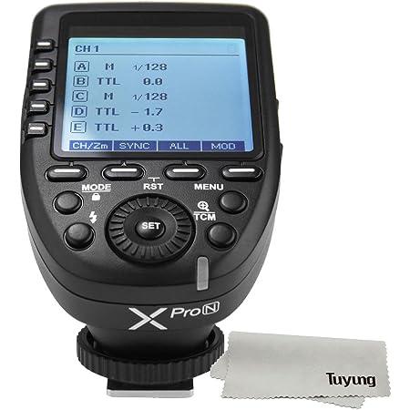 【正規品 技適マーク付き日本語説明書付】Godox Xpro-N E-TTL II 2.4G ワイヤレスフラッシュトリガー 高速同期 1 / 8000s Xシステム 高速 大画面 LCD スクリーントランスミッタ 互?性 Nikon カメラ用
