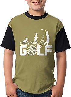 T シャツ 半袖 ボーイズ ゴルフ 進化 丸首 キッズ 吸汗 半袖 オシャレ 人気 かわいい 普段着 学校用 旅行用 夏秋 カジュアル