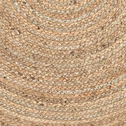 VHC Marken Harlow Jute rund Teppich, Textil, beige, 91,4 cm - 2