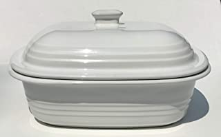 Pampered Chef White Deep Covered Baker Model #1352