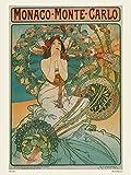 Jugendstil Poster Kunstdruck Alphonse Mucha Monaco