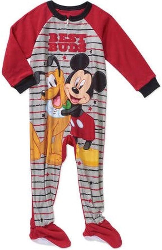 Disney Mickey and Pluto Boy's 2T Fleece Footed Blanket Pajama Sleeper
