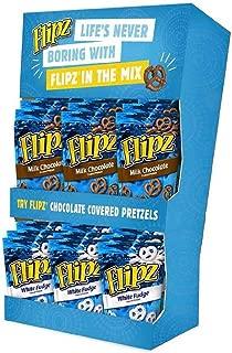 Flipz Milk Chocolate and White Fudge Covered Pretzel - Power Wing, 5 Ounce -- 18 per case.