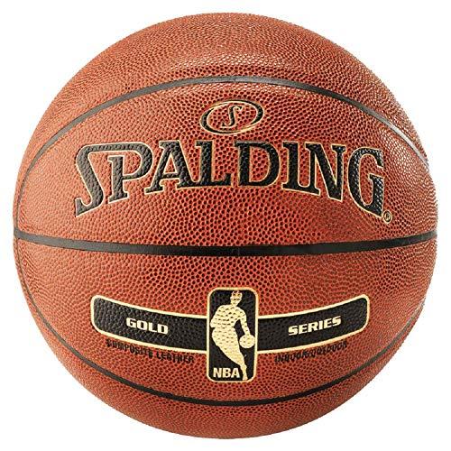 Spalding NBA Gold In/Out Ball - Balón de baloncesto, color naranja