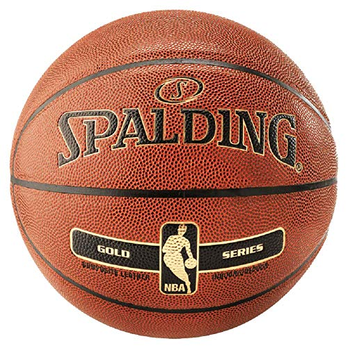 Spalding NBA Gold In/Out Ball - Balón de baloncesto, color naranja