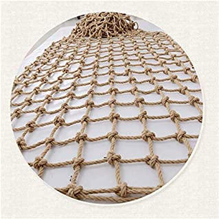 Rope Net Decor Net ,balcony Stairs Decoration Retro Safety Durable Protection (Color : BEIGE-15CM, Size : 1X3M)